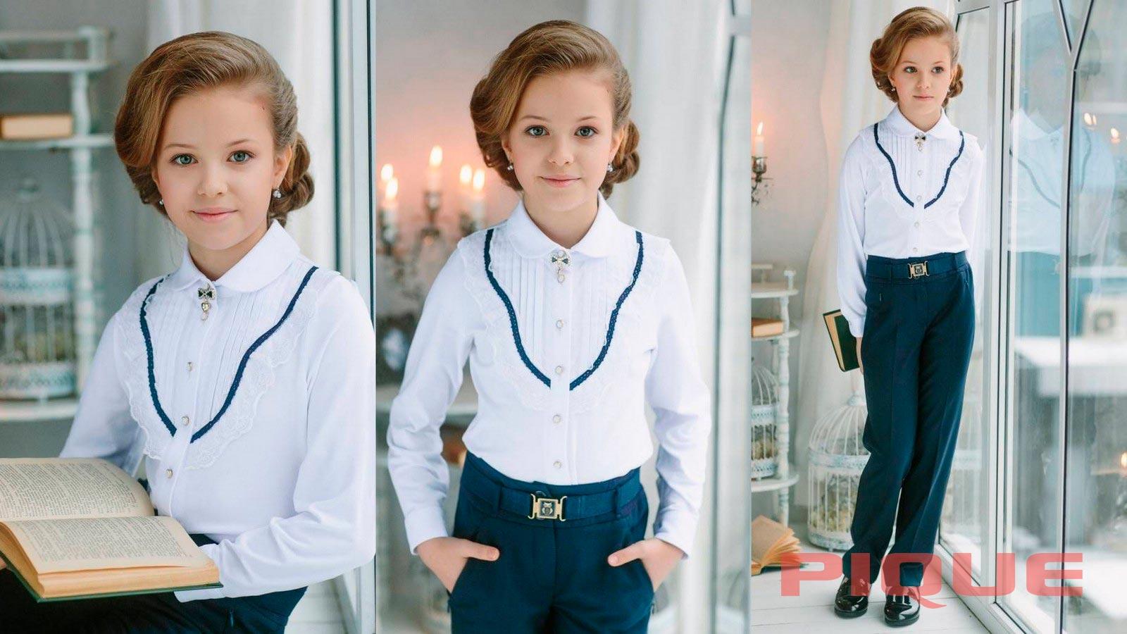 Школьные блузки PIQUE оптом