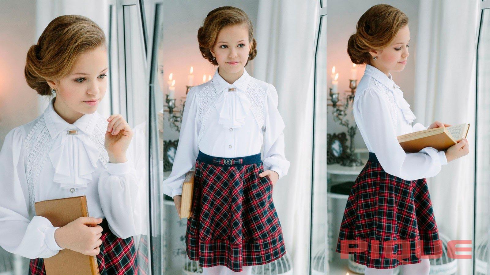 Белая школьная блузка оптом Бишкек
