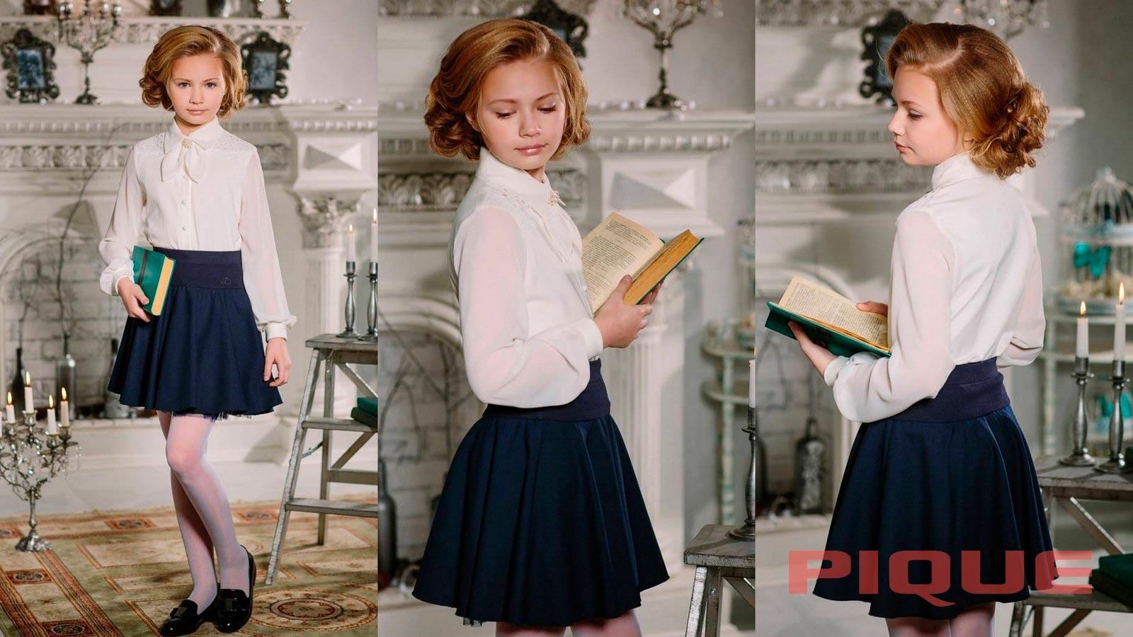 Белая школьная блузка оптом